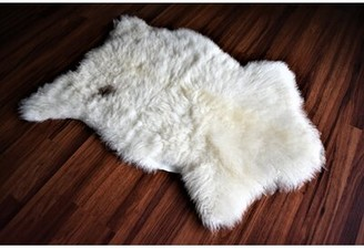 "Cheatham Animal Print Handmade 1'11"" x 2'9"" Sheepskin Cream Indoor / Outdoor Area Rug Millwood Pines"