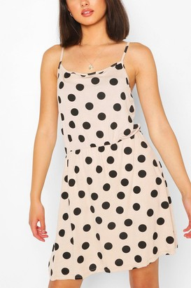 boohoo Large Polka Dot Sundress
