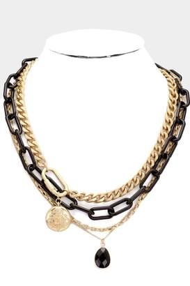 Embellish Black Chain Necklace
