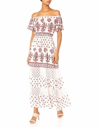 Taylor & Sage Women's Printed Off The Shoulder Maxi Dress