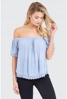Select Fashion Fashion Plain Crochet Trim Blouse Shirts - size 6