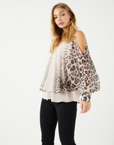 Star by Julien Macdonald Star By Julien Mcdonald Ombre Animal Cape Top
