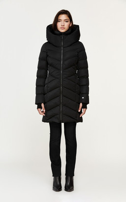 Soia & Kyo SYDNEA mid-length sporty down coat with large hood