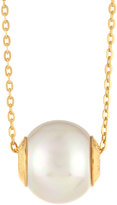 Majorica Golden White Pearl Pendant Necklace