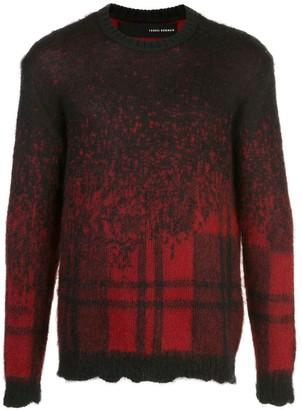 Isabel Benenato pattern-mix jumper