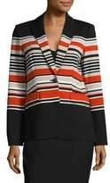 Calvin Klein Striped Knit Blazer