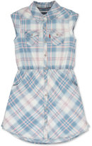 Levi's Sleeveless Denim Shirtdress, Girls