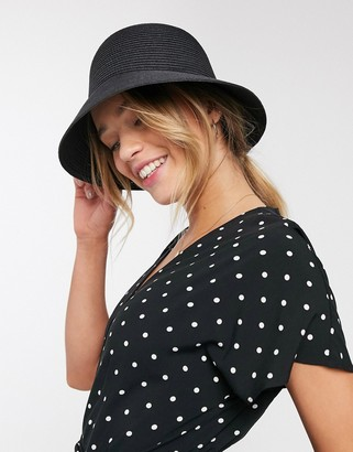 And other stories & straw bucket hat in black