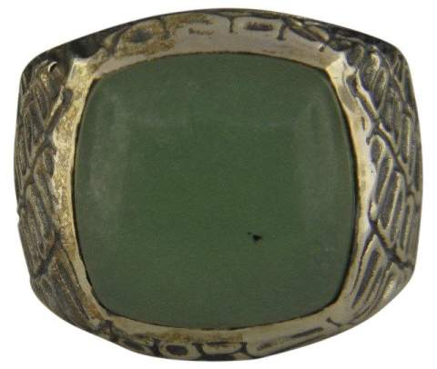 David Yurman 925 Sterling Silver with Jade Ring Size 8