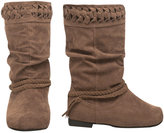Faux Suede Braid Boot