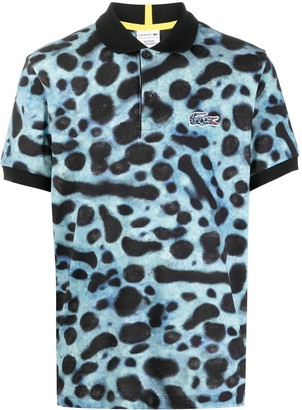 Lacoste Tie-Dye Embroidered Logo Polo Shirt