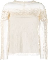 RED Valentino point d'esprit tulle blouse