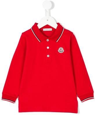 Moncler Enfant Long Sleeved Polo Shirt