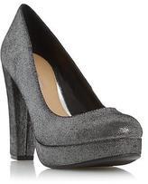 Head Over Heels Ladies ADELE Platform High Heel Court Shoe Pewter 6