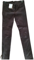 Louis Vuitton Brown Leather Trousers