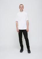 Lanvin white mercerised jersey high collar tee