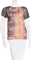 Rebecca Minkoff Silk Abstract Print Blouse w/ Tags