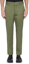 Balenciaga Men's Cotton-Blend Straight-Leg Crop Trousers