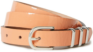 Rag & Bone Jet Crinkled Patent-leather Belt