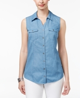 Style&Co. Style & Co Style & Co Petite Utility Shirt, Created for Macy's