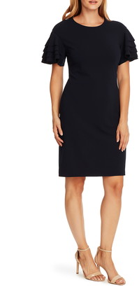 Vince Camuto Crepe Ponte Tiered Sleeve Dress
