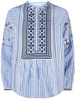 Joie Embroidered Stripe Top