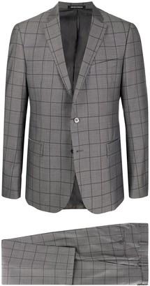 Emporio Armani Geometric Print Formal Suit