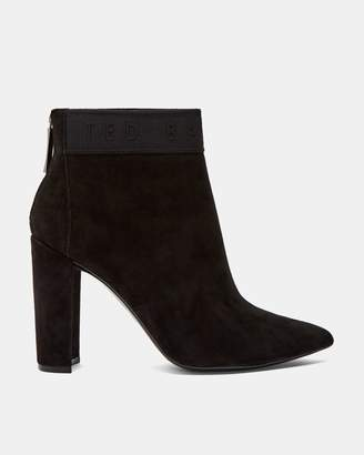 Ted Baker Suede Block Heel Ankle Boots