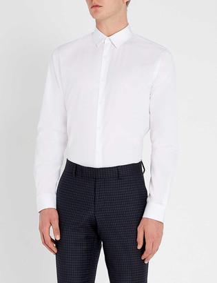 Sandro Slim-fit cotton-poplin shirt