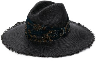 Brunello Cucinelli Scarf-Embellished Straw Hat