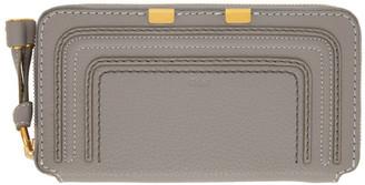 Chloé Grey Long Marcie Wallet