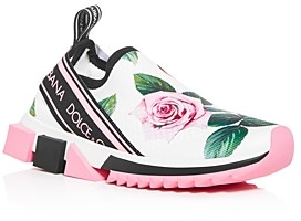 Dolce & Gabbana Women's Floral Slip-On Sneakers