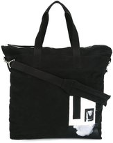 Rick Owens patch detailed tote