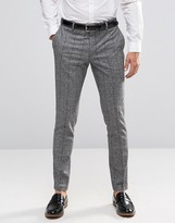 Jack & Jones Premium Skinny Smart Trouser In Flecked Check
