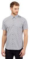 Jeff Banks White Short Sleeved Floral Shirt