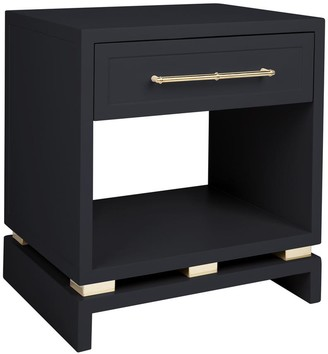 Cafe Lighting Capize Bedside Table Small Black With Gold Handles