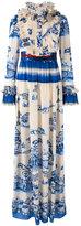 Gucci porcelain garden print gown - women - Silk/Plastic/glass/Metal (Other) - 40