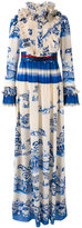 Gucci porcelain garden print gown - women - Silk/Plastic/Metal (Other)/glass - 40