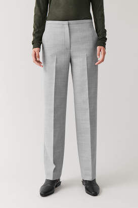 Cos STRAIGHT WOOL-MIX PANTS