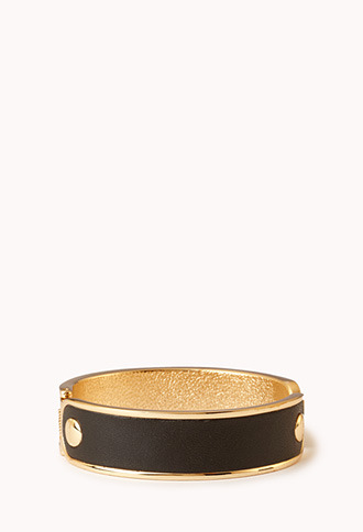 Forever 21 Sleek Faux Leather Cuff