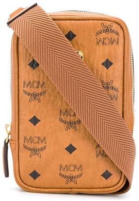 MCM Visetos monogram print leather belt bag