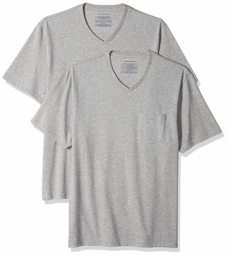 Amazon Essentials 2-pack Regular-fit V-neck Pocket T-shirt Heather Grey US L (EU L)