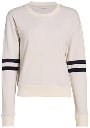 Splits59 Mia Stripe-Sleeve Sweatshirt