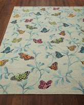"Butterfly Blossom Indoor/Outdoor Rug, 8'3"" x 11'6"""