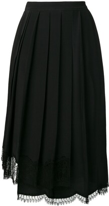 No.21 Lace Hem Pleated Skirt