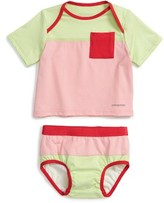 Patagonia Infant Girl's 'Little Sol' Two-Piece Rashguard Swimsuit
