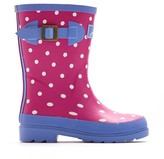 Joules Girls' Welly Polka Dot Rain Boots - Pink