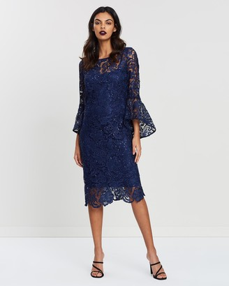 Montique Chrystella Lace & Sequin Dress