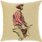 Pink Stripe Jockey and Saddle Cushion