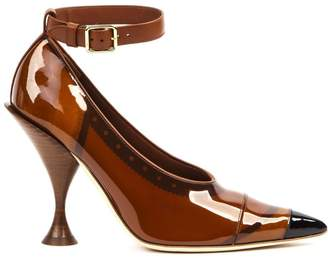 Burberry Pointed Toe Ankle Strap Pumps